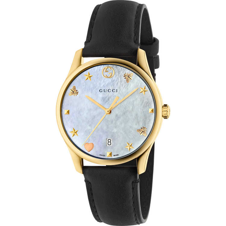 5c313d05c19 Ladies  Gucci Watch G-TIMELESS 32mm Black Leather