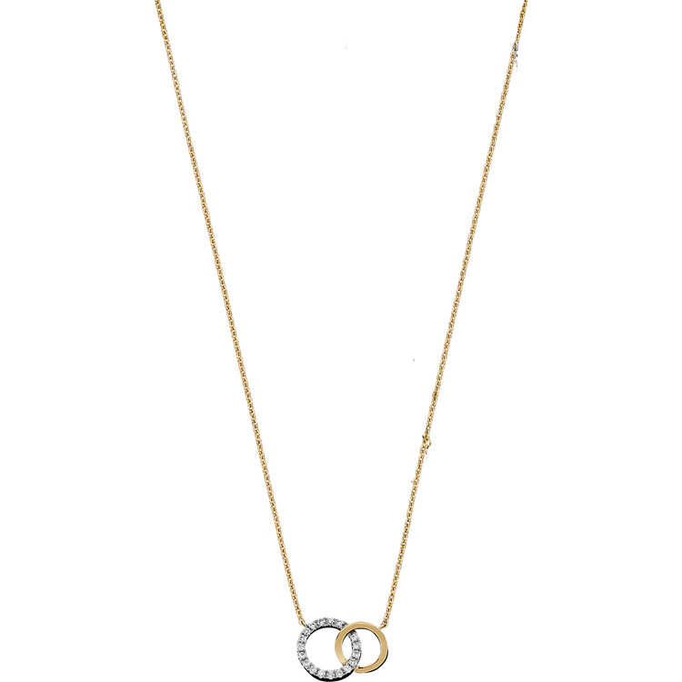Jewels By Lux 14K Yellow Gold Interlocking Circle Pendant