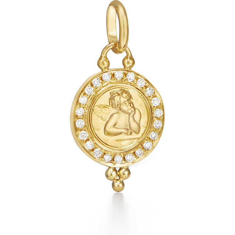 Temple St  Clair Jewelry Diamond Pendant in 18k Yellow Gold