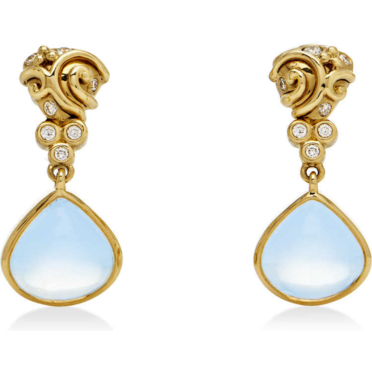 Temple St  Clair Jewelry Gemstone and Diamond Earrings in