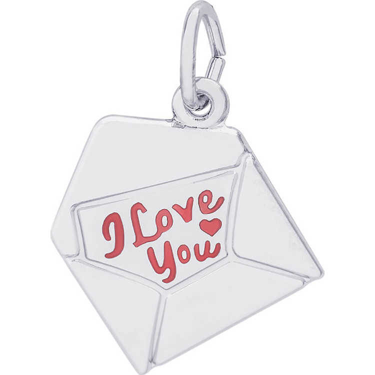 18 Mireval Sterling Silver Polished Puff Heart Charm on a Sterling Silver Carded Box Chain Necklace