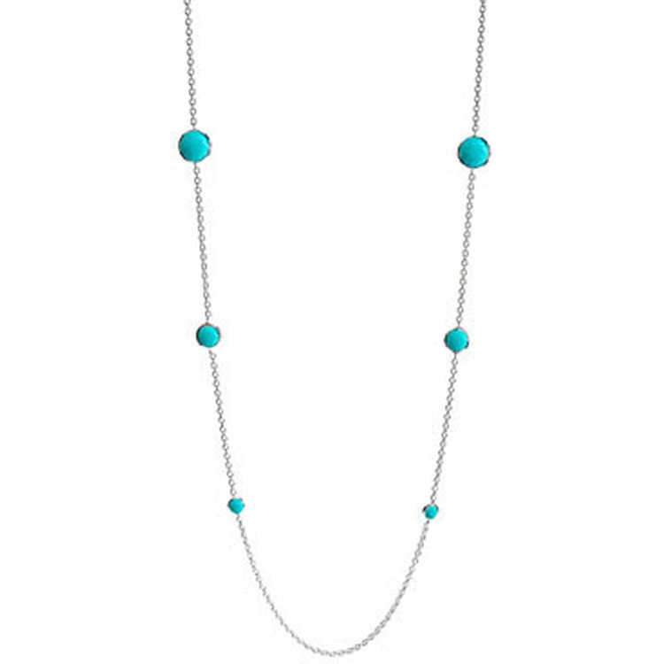 9741d5873ec IPPOLITA Rock Candy Sterling Silver Lollipop Station Necklace in Turquoise
